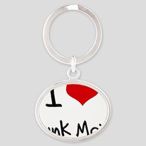 I Love Junk Mail Oval Keychain
