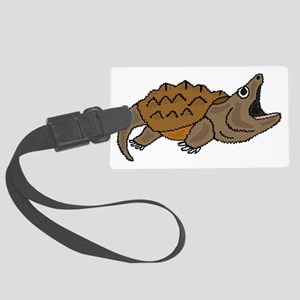 Funky Snapping Turtle Large Luggage Tag