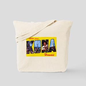 Kona Hawaii Greetings Tote Bag