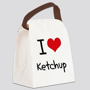 I Love Ketchup Canvas Lunch Bag