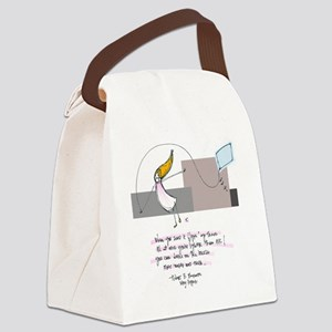 Up Where the Air is Clear Canvas Lunch Bag