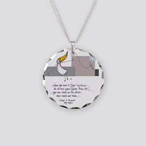 Up Where the Air is Clear Necklace Circle Charm