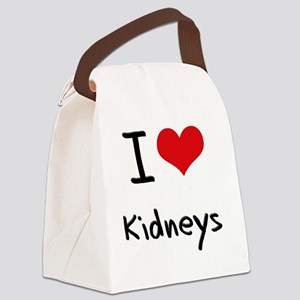 I Love Kidneys Canvas Lunch Bag