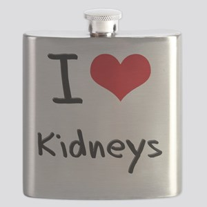 I Love Kidneys Flask