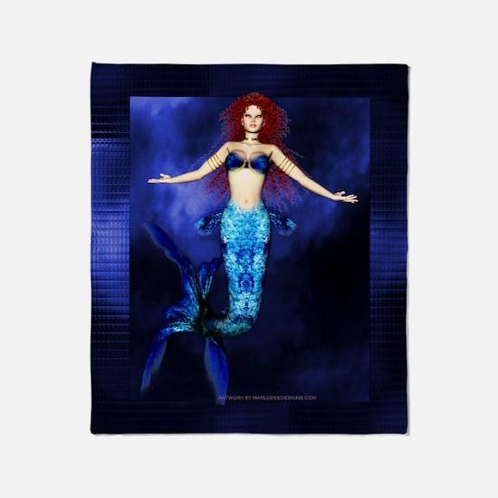 Mermaid Fantasy Artwork 2 Throw Blanket