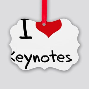 I Love Keynotes Picture Ornament
