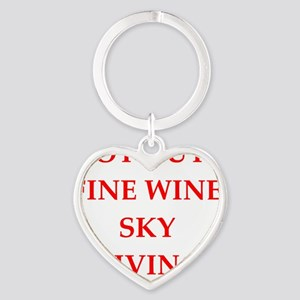 sky diving Heart Keychain