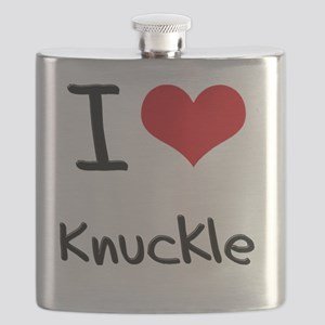 I Love Knuckle Flask