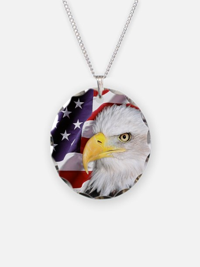 Freedom Flag & Eagle Necklace