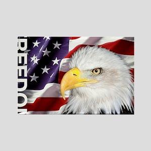 Freedom Flag & Eagle Rectangle Magnet