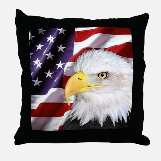 Freedom Flag & Eagle Throw Pillow