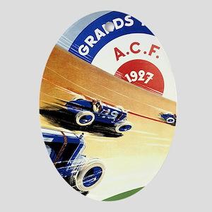 Antique 1927 France Grand Prix Race  Oval Ornament