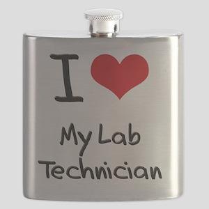 I Love My Lab Technician Flask
