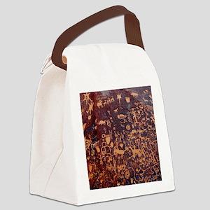 Newspaper Rock Wide FINAL Canvas Lunch Bag