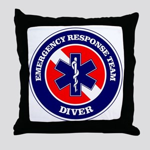 ERT Diver 1 Throw Pillow