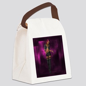 Dark Goth Girl D1 Canvas Lunch Bag