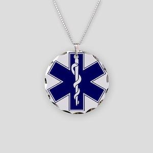 EMT logo Necklace Circle Charm