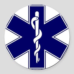 EMT logo Round Car Magnet
