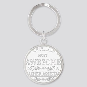teacher assistant Round Keychain