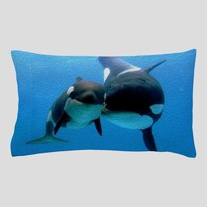 Orca With Calf Pillow Case