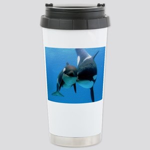 Orca With Calf Stainless Steel Travel Mug