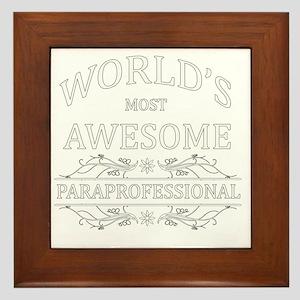 paraprofessional Framed Tile
