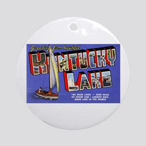 Kentucky Lake Greetings Ornament (Round)
