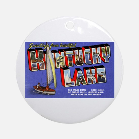 Kentucky Lake Greetings Ornament (Round)
