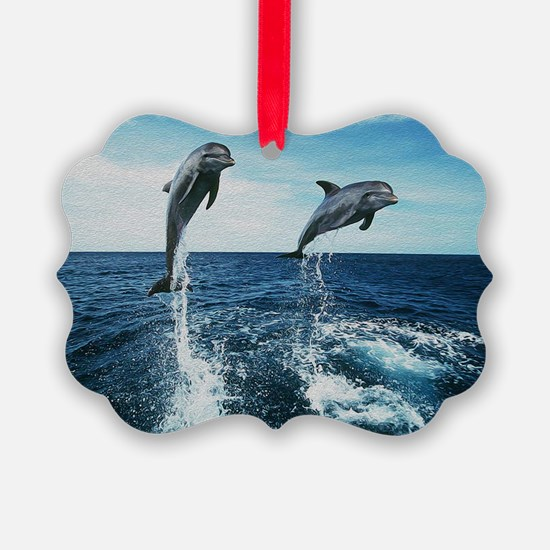 Twin Dolphins Ornament