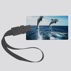 Twin Dolphins Large Luggage Tag