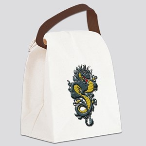 Angry Dragon Canvas Lunch Bag