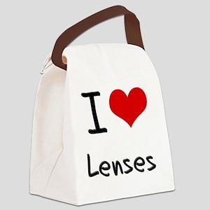 I Love Lenses Canvas Lunch Bag