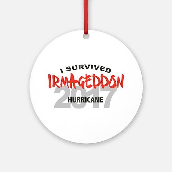Hurricane Irma Survivor Round Ornament