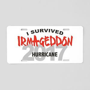 Hurricane Irma Survivor Aluminum License Plate