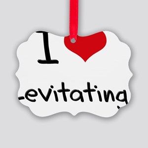 I Love Levitating Picture Ornament