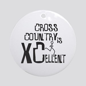 XC Cross Country Round Ornament