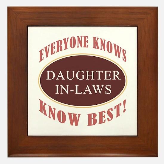 Daughter-In-Laws Know Best Framed Tile