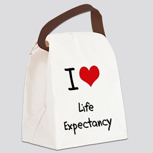 I Love Life Expectancy Canvas Lunch Bag