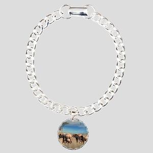 s2_shower_curtain Charm Bracelet, One Charm