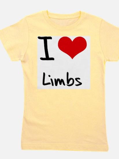 I Love Limbs Girl's Tee