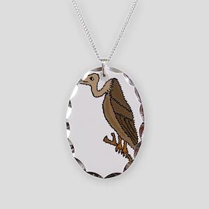 Funny Vlture Cartoon Necklace Oval Charm