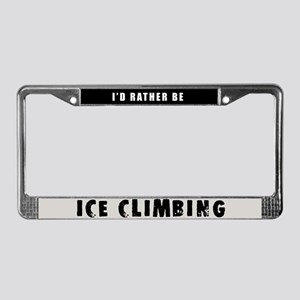 Ice Climbing License Plate Frame