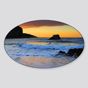 Mediterranean Sunset Sticker (Oval)