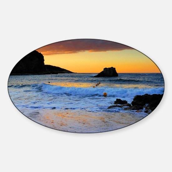 Mediterranean Sunset Sticker (Oval)