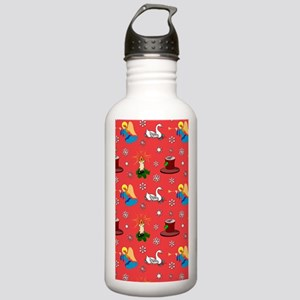 Christmas, White Swans Stainless Water Bottle 1.0L