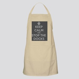 BW Keep Calm and Stop The Docks Apron