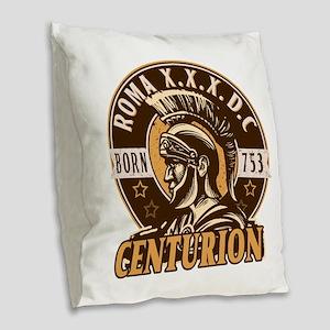 Lucius, the Roman Centurion Burlap Throw Pillow