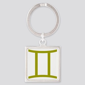 Gemini Square Keychain