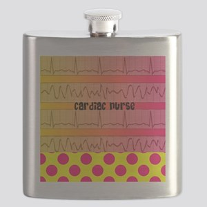 Cardiac Nurse all over shirt 2 Flask