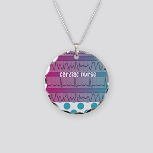 Cardiac Nurse Necklace Circle Charm